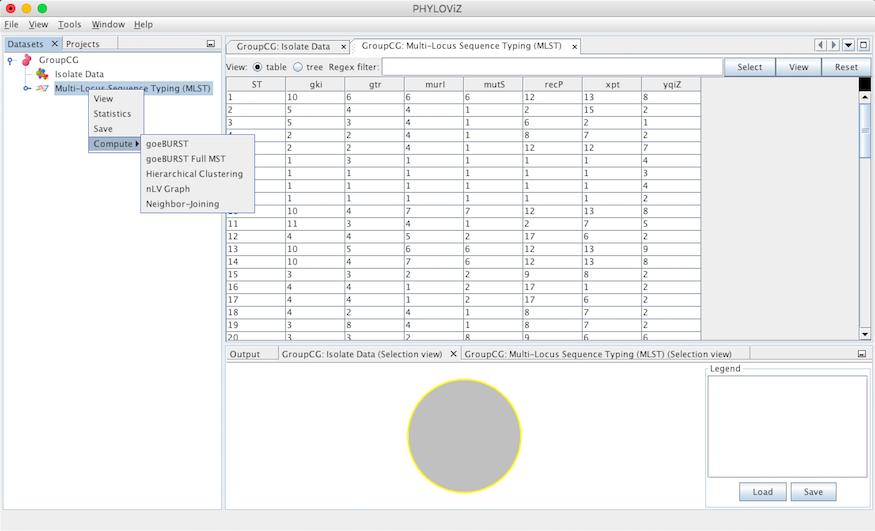 Data analysis — PHYLOViZ 2 0 documentation
