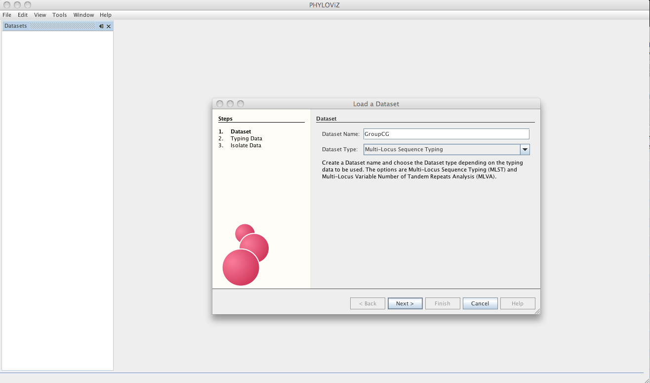 the next step is loading the allelic profile data for the method you selected